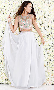 Illusion Sweetheart Open Back Long Prom Dress