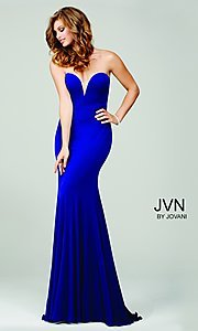 JVN by Jovani Long Sweetheart Dress