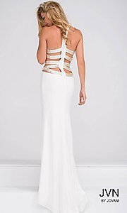 Long Multi-Strap Back Prom Dress