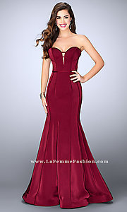 Mermaid Style Jersey Strapless Prom Dress