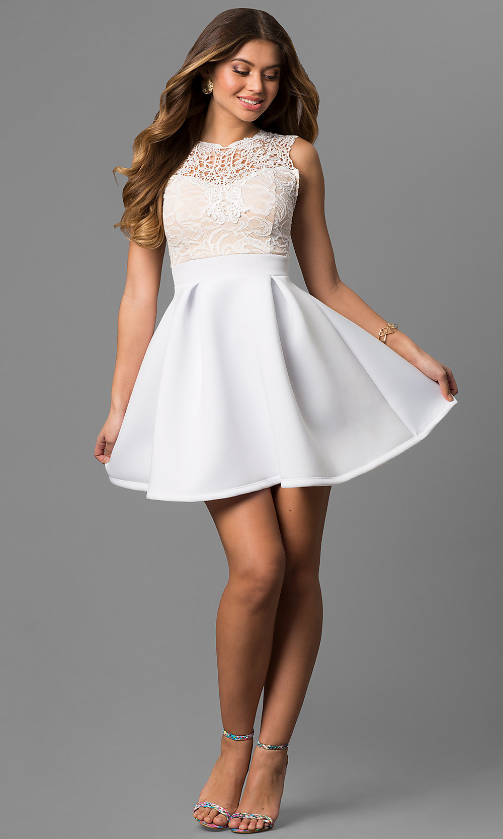 Graduation Dresses White 37