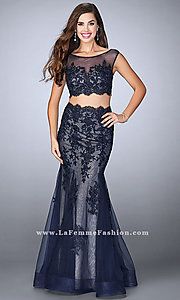 Mermaid Style Long Prom Dress with Lace Details