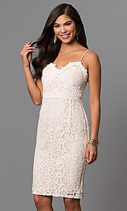 Sweetheart Short Lace Graduation Dress