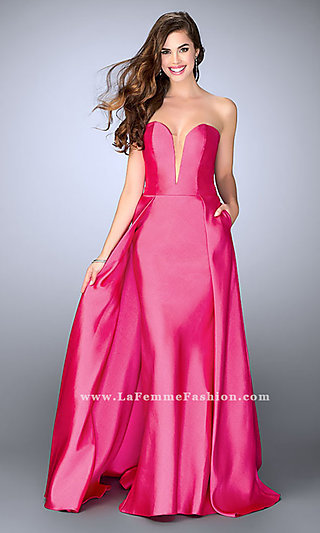 Strapless Sweetheart Long Prom Dress
