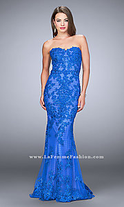 Lace Applique Long Sweetheart Prom Dress