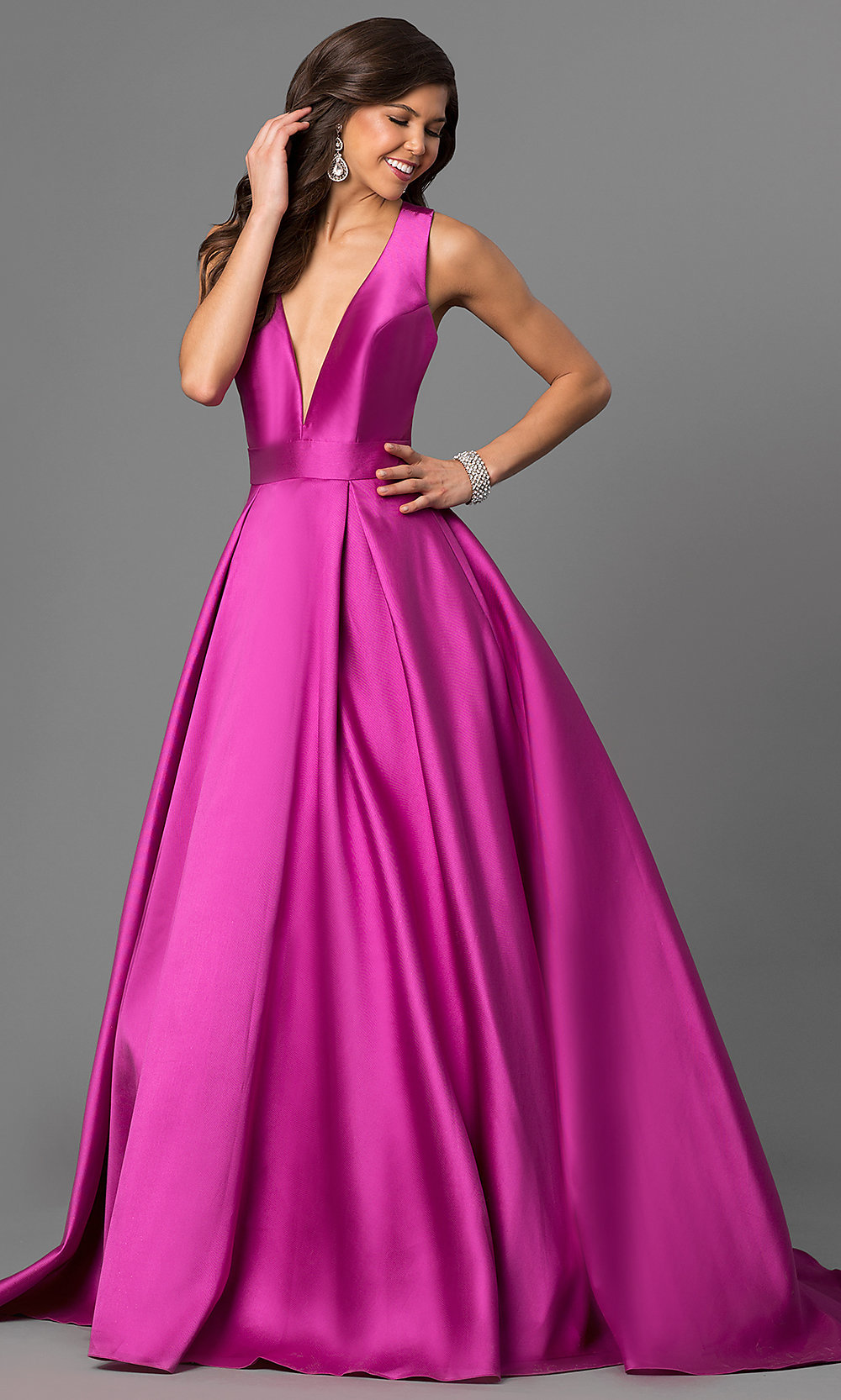 Long V-Neck Prom Dress from JVN by Jovani