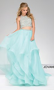 Two-Piece High-Neck Ball Gown by Jovani
