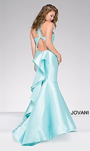 V-Neck Back Ruffle Mermaid Jovani Dress