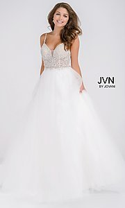 JVN by Jovani Prom Dress with Beaded Bodice
