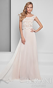 Ivory and Nude Two-Piece Dress