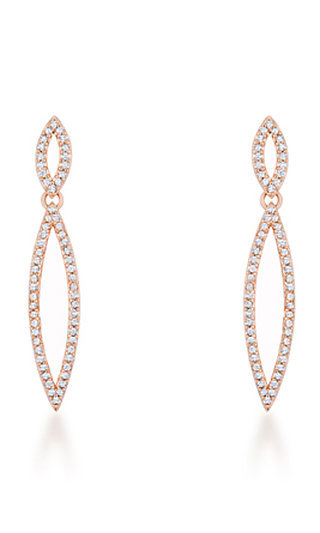 Rose Gold Plated Tear Drop Earrings