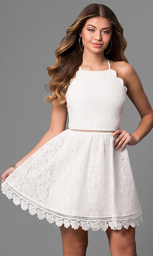 White Lace Party Dresses