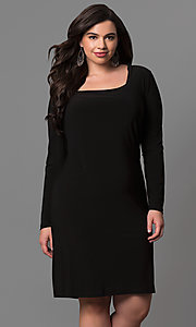 Long Sleeve Plus Size Party Dress