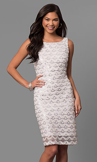 Short Sequined Prom Dresses- Prom Gowns
