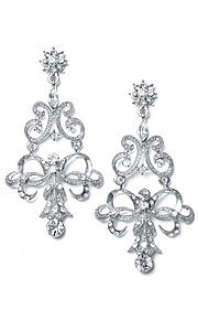 Vintage Austrian Crystal Chandelier Earrings
