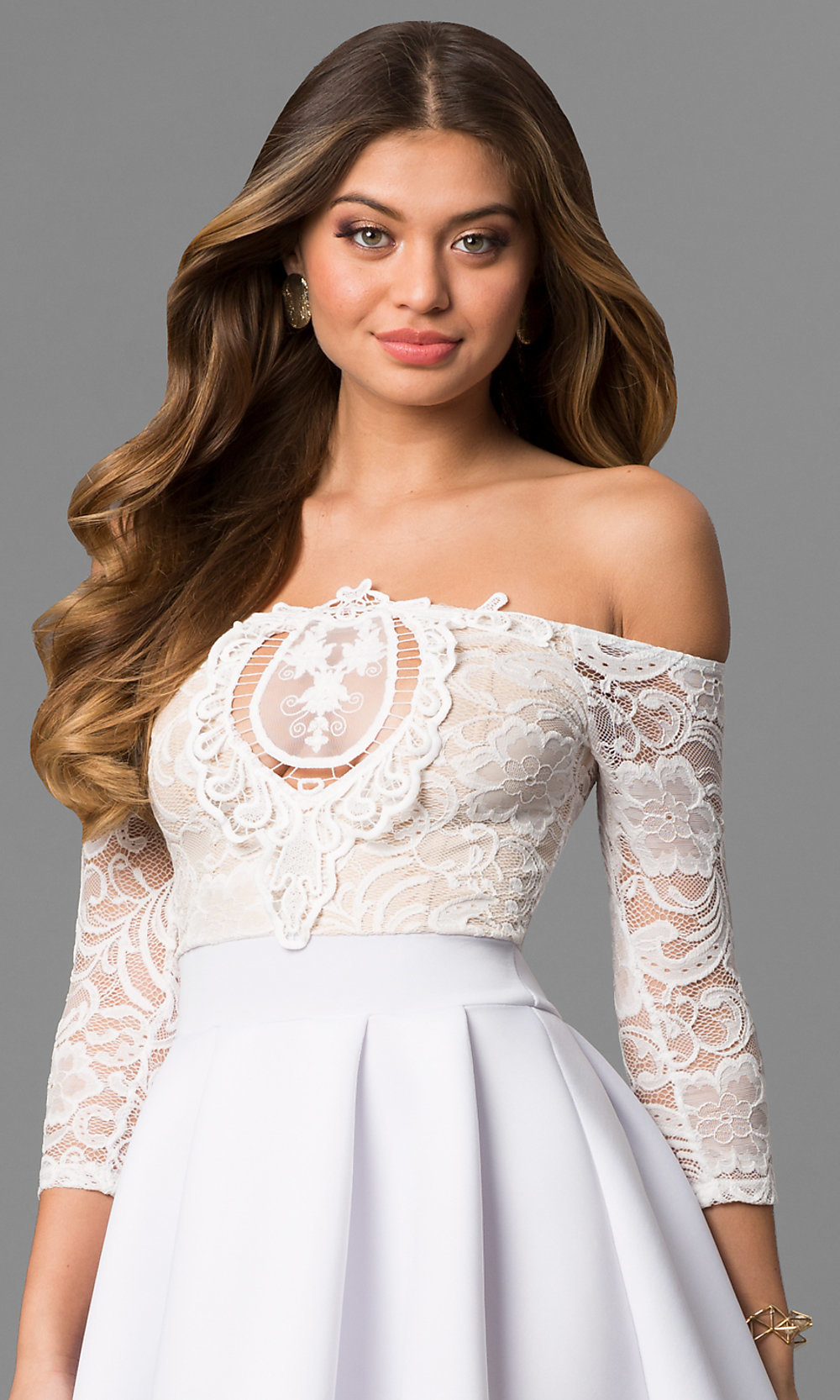 white wedding party dresses
