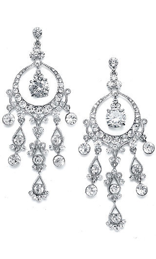 Cascading Chandelier Earrings with Austrian Crystal