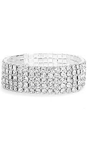 Stretch Five-Row Rhinestone Bracelet