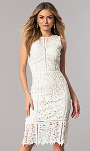 Short Ivory Lace Party Dress