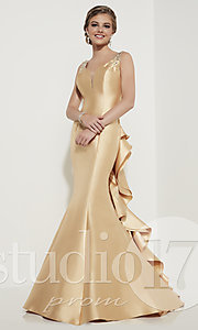 Studio 17 Long Prom Dress with Open Back
