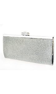 Silver Metallic Weave Clutch