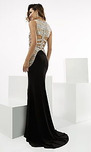 Black and Silver Prom Dress by Jasz