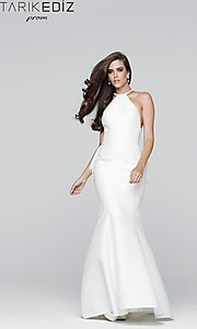 Tarik Ediz Sheer Back Mermaid Style Prom Dress