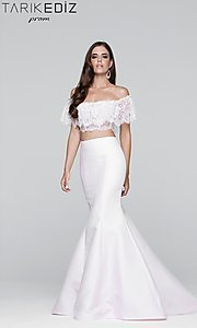 Off the Shoulder Prom Dress with a Blousant Top