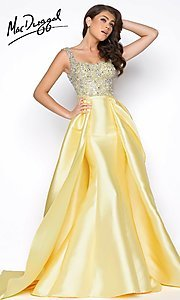 Scoop Neck Mermaid Prom Dress with an Overskirt