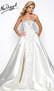 Embroidered Scoop Neck Prom Dress by Mac Duggal