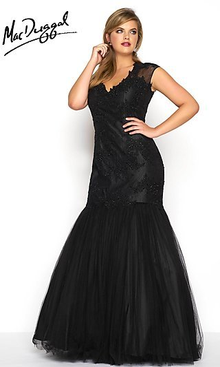 Plus-Size Mermaid Prom Dresses and Gowns -PromGirl