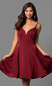 Knee-Length V-Neck Party Dress by Dave and Johnny