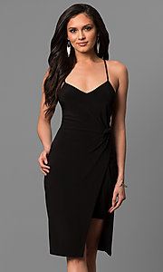 V-Neck Short Knee-Length Party Dress
