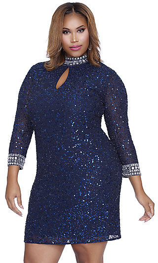 Plus-Size Party Dresses Short Dresses - Prom Girl