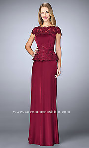 Long Prom Dress with Illusion Lace Details by La Femme