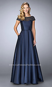 Long Prom Dress by La Femme with Pockets