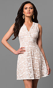 A-Line Short Lace Graduation Dress