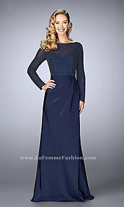 Long Sleeved Prom Dress with Beading by La Femme