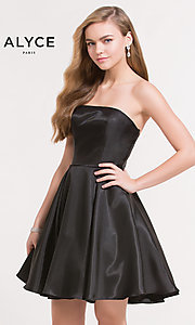 Strapless Short Homecoming Dress