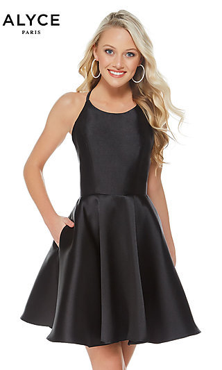 Short Black Dresses Long Black Prom Gowns Promgirl