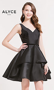 Short V-Neck A-Line Homecoming Dress
