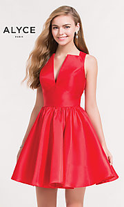 V-Neck Short Alyce Homecoming Dress