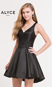 V-Neck Homecoming Dress by Alyce