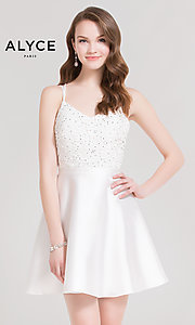 Diamond White Homecoming Dress