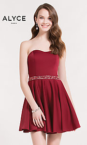 Short Wine Red Homecoming Dress