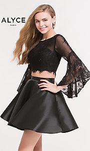 Two-Piece Long-Sleeve Homecoming Dress