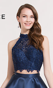 Image of Alyce Paris short two-piece homecoming party dress. Style: AL-3735 Detail Image 1