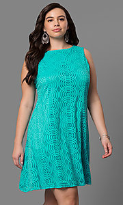 Short Lace Plus-Size Shift Dress
