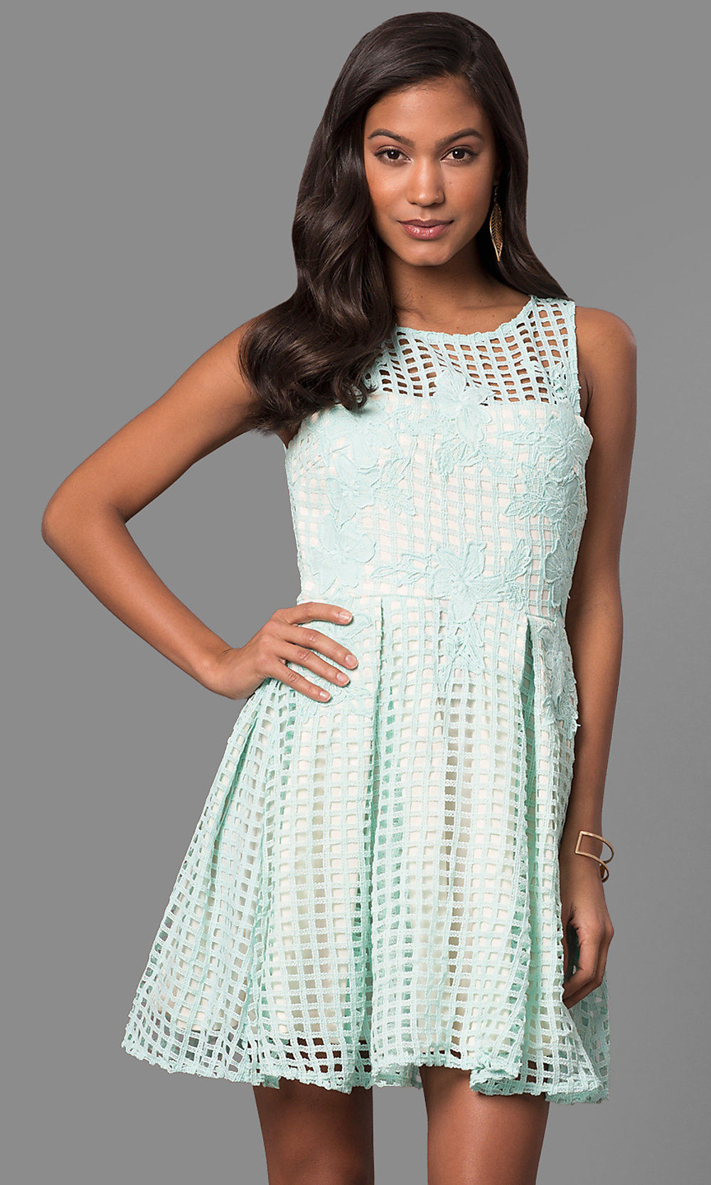 Cheap Semi-Casual Lace A-Line Party Dress - PromGirl 7127d2b49