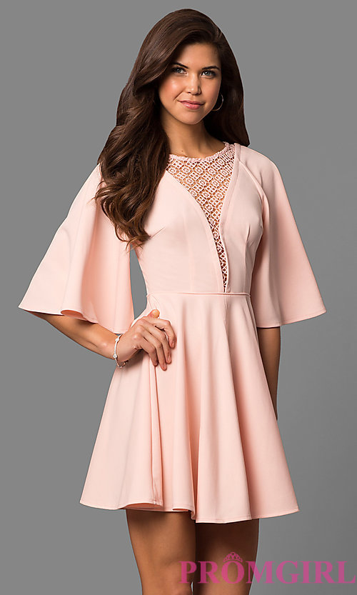 A Line Party Dress with Belt